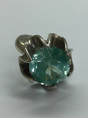 Mexico TR-12 925 Sterling Silver Ring With CZ Stone Size 7 1/2
