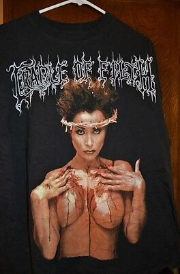 CRADLE OF FILTH 1995  Praise the Whore UK vintage licensed shirt XL VERY RARE!!