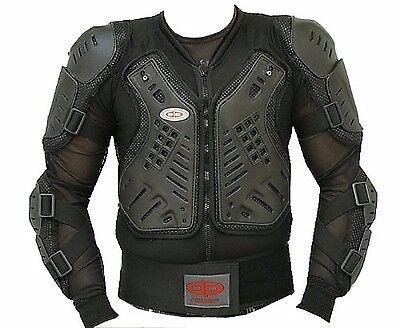 NEW Perrini Black CE Approved Full Body Armor Motorcycle Jacket