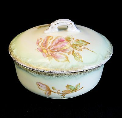 Victorian Antique John Maddock Aesthetic Movement Ironstone Butter or Soap Dish