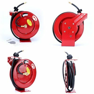 "Cyclone Pneumatic 3/8"" x 25' 300 PSI Retractable Air Compressor Hose Reel"