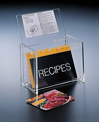 Recipe Box Lid Display 4 x 6 Cards (W/Cards) Acrylic