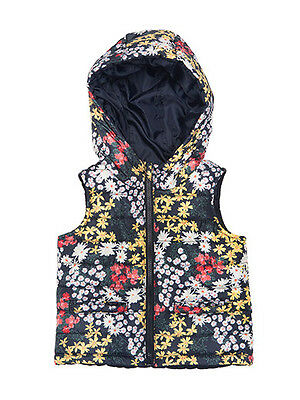 Fred Bare Baby Girls Le Chic Puffer Vest Fully Lined And Reversible