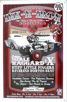 INK-N- IRON-TATOO & KUSTOM CULTURE FESTIVAL Memorabilia Metal tin Sign