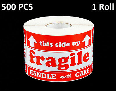 Fragile Handle With Care This Side Up Labels Stickers 500 Per Roll (1) 3X5