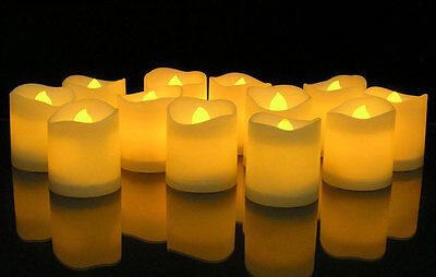 12 Pcs Flameless Candles Flickering Romantic LED Battery Powered Tealight Candle