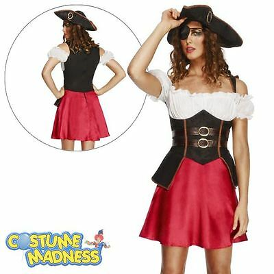 Fever Pirate Wench Costume with Dress- Adult Woman Outfit Fancy Dress