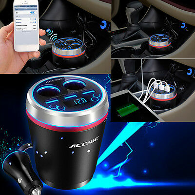 Bluetooth Car Handsfree FM Transmitter MP3 Radio TF 3 USB Charger Universal HOT