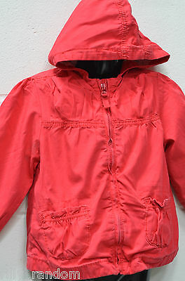 Girls Pink Hooded Jacket Coat UK Age 2-3 Years from Next
