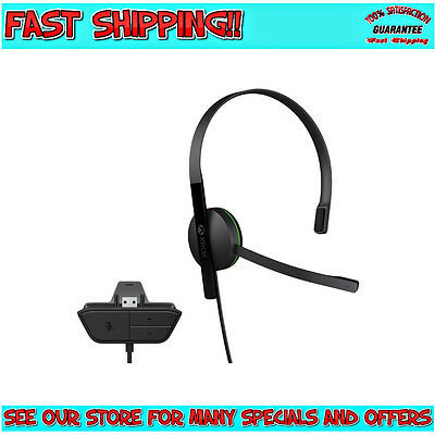 XBOX ONE | Genuine Black Mono Chat Headset With Mic | *Tracked Post* | WARRANTY