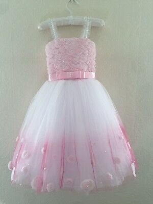 Flower Girl Dress Princess Kids Pageant Party Dance Wedding Birthday Ball Gown