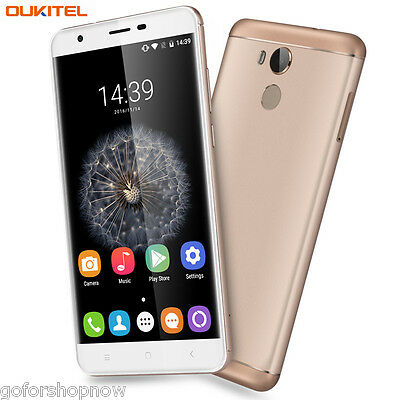 "5.5""OUKITEL 4G CELLULARE Android 6.0 Octa Core 3+32GB HD 2-SIM TOUCH ID TELEFONO"