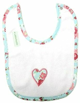 BABY GIRL Bib with Flower Motif Baby Gift - 4 Little Ducks Clothing FREE POSTAGE