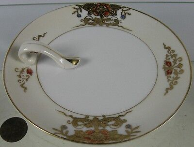 Antique Handled Server Cream With Gold Noritake Made in Japan