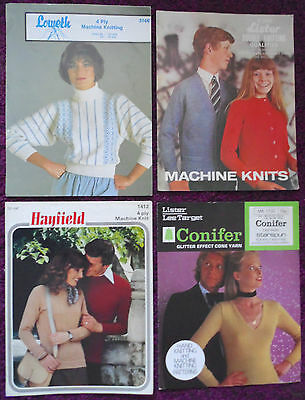 Various Machine Knitting Patterns Sweaters Cardigans-Choose from Down-down Menu