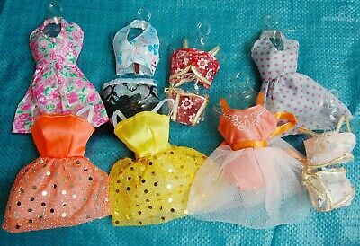25   P   〓 (10 clothes+10 shoes + 5 hangers) for Barbie Doll hyt5678