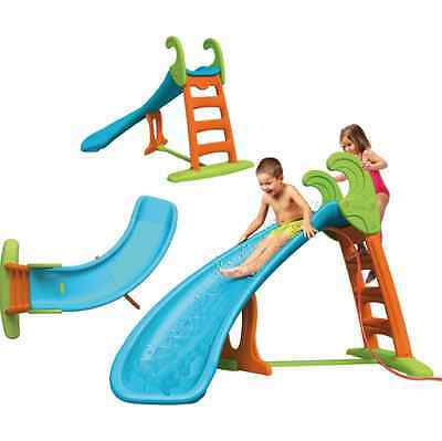 NEW Feber Curve Slide Water Connection Outdoor Garden Water Slides Toys Games