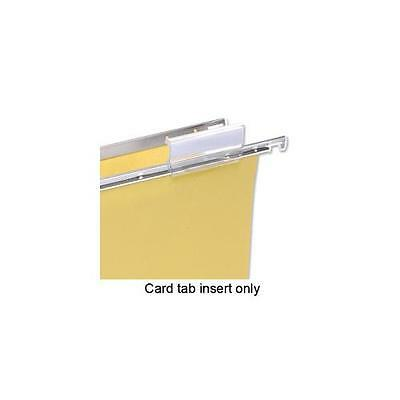 100331400 5 Star Card Inserts for Clenched Bar Suspension File Tabs White x50 Pk