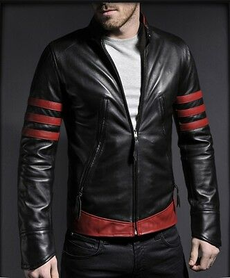 New Men's Leather Motorcycle Quilted Jacket Real Lambskin Soft Leather MJ07