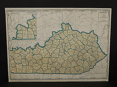 Vintage Map, 1934, Kentucky R1#28