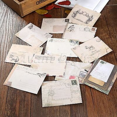 12x Ancient Old Mini Envelope Letter Wish Card Gift Storage Paper Stationery