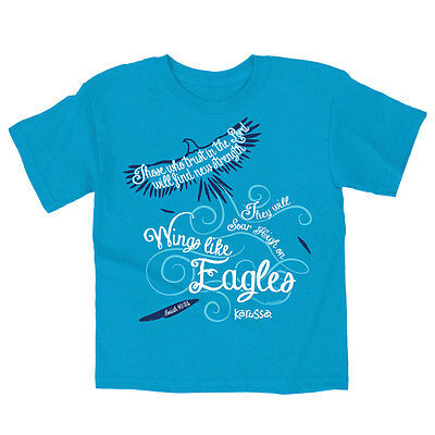 Christian Youth T Shirt - Wings Like Eagles - Kids Tee by Kerusso