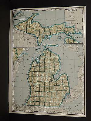 Vintage Map, 1934, Michigan R1#56