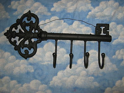 Black Cast Iron Fancy Key- Key Holder