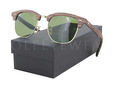 NEW Ray Ban RB 3016 M 1182 4E 51mm Brown / Green Classic Sunglasses