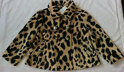 NWT Gap Bryant Park Leopard swing coat, 2T JUST REDUCED