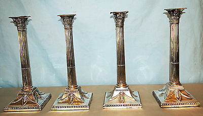 John Cramer Important :c 1773 Set Of 4 Georgian Sterling Candlesticks , H=12.75""