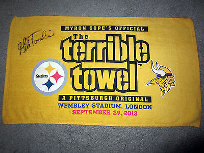 MIKE TOMLIN Coach Pittsburgh Steelers AUTOGRAPHED Signed TERRIBLE TOWEL w/ COA