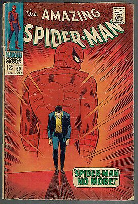 AMAZING SPIDER-MAN  50  GD+/2.5  -  1st Kingpin!