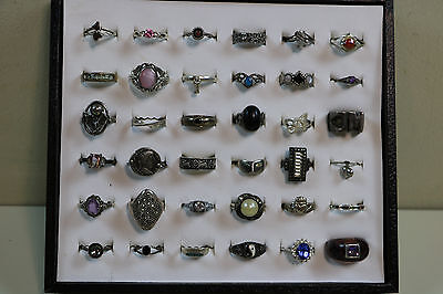 Lot of 36 Sterling Silver Estate  Rings Great For Resale 140 Grams   Lot #2