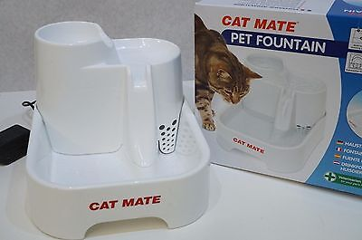 Cat Mate Pet Fountain 2 Liter Water Bowl  Cats & Small Dogs Perfect New