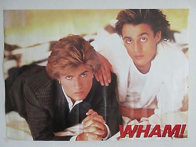 Wham! Japan Promo Poster by Epic Sony George Michael Andrew Ridgeley Make It Big