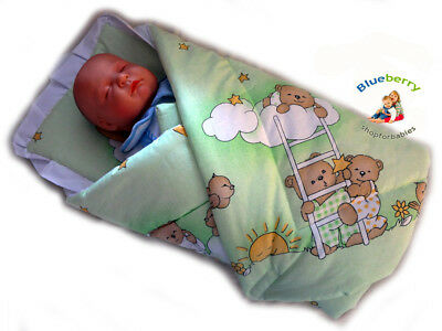 BlueberryShop Classic with Pillow Swaddle Wrap Blanket Sleeping Bag for Newborn