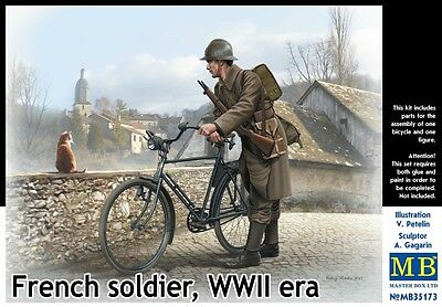 1/35 MASTER BOX French soldier, WWII era   MB35173