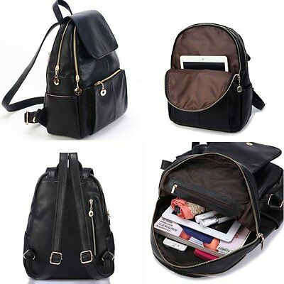 Women's New Backpack Travel PU Leather Handbag Rucksack Shoulder School Bag