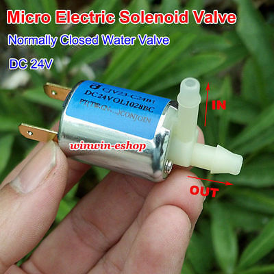 DC24V Mini Electric Exhaust Solenoid Valve Normally Closed N/C For Gas Water Air