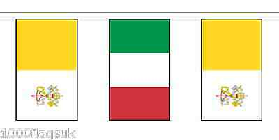 Italy & Vatican City Polyester Flag Bunting - 5m with 14 Flags