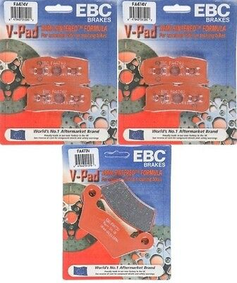 EBC V Pads Front + Rear Brake Pads (3 Sets) 2010-2012 Can-Am Spyder RS-S (SE5)