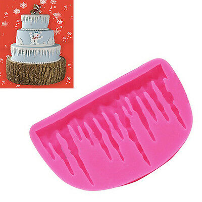 Silicone Frozen Icicle Fondant Mold Christmas Snowman Candy Cake Decorating Mold