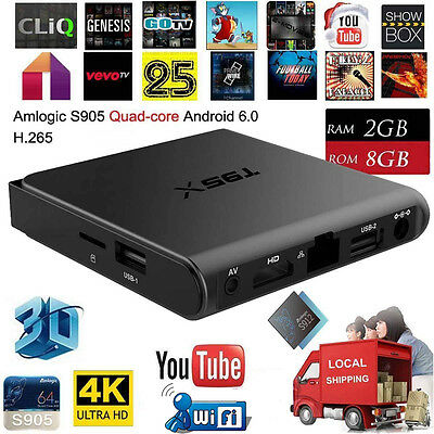 2+8GB 4K PRO Android 6.0 Smart TV Box Quad Core WIFI Fully Loaded Movie TV Stick