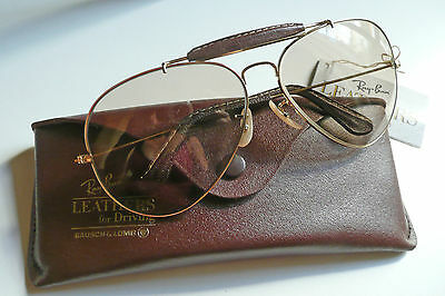 B&L Ray-Ban Leathers Outdoorsman occhiali vintage sunglasses changeable lenses