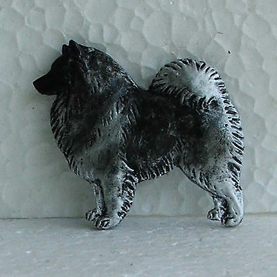 Keeshond Resin Brooch Dog Breed Jewellery Handpainted Handcrafted