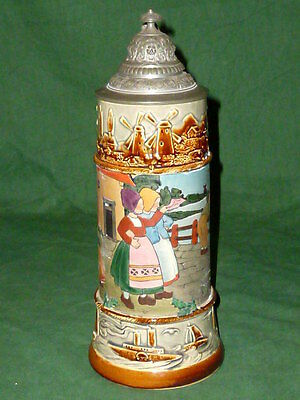 Old scarified Beer Mug Holland Motif Mug Children motif Children Jugs Windmill