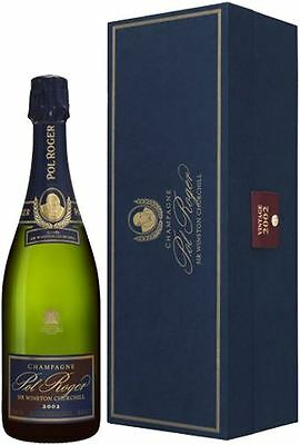 Pol Roger Sir Winston Churchill Vintage Champagne 2002 Gift Box 75cl