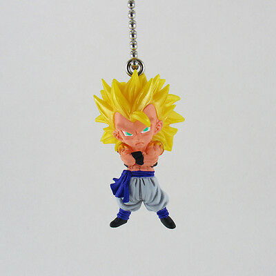 Dragon Ball Z UDM The Best 10 Bandai PVC Figure Keychain Super Saiyan 3 Gogeta