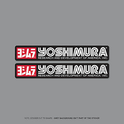 SKU2209 - 2 x Yoshimura Exhausts - Suzuki -  Decals - Stickers - 150mm x 24mm